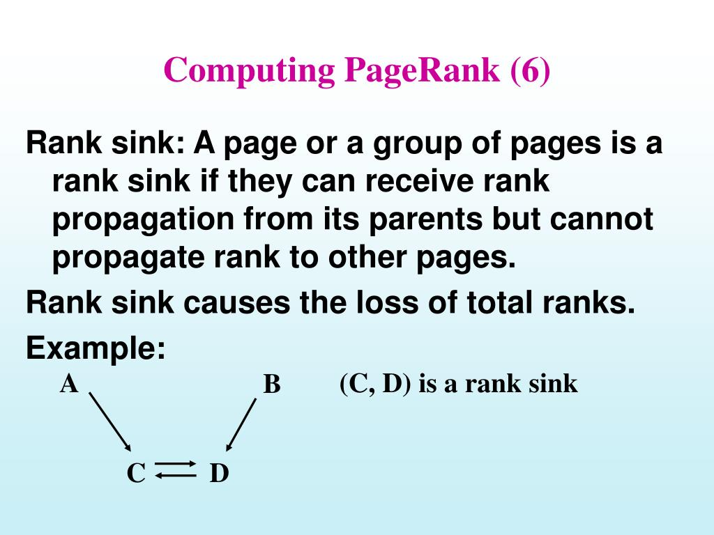 Computing PageRank (6)