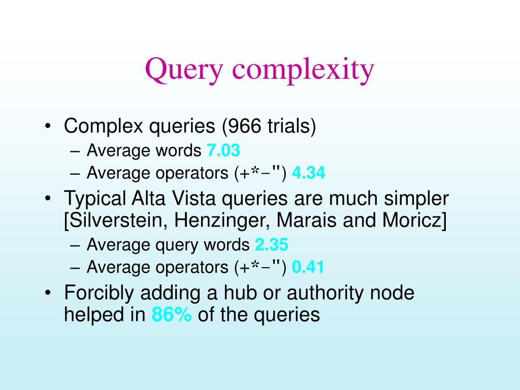 Query complexity