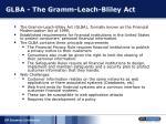 glba the gramm leach bliley act