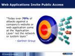 web applications invite public access