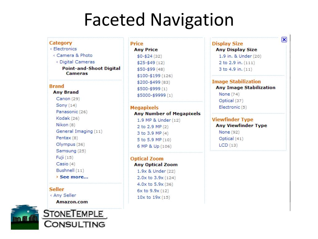 Faceted Navigation