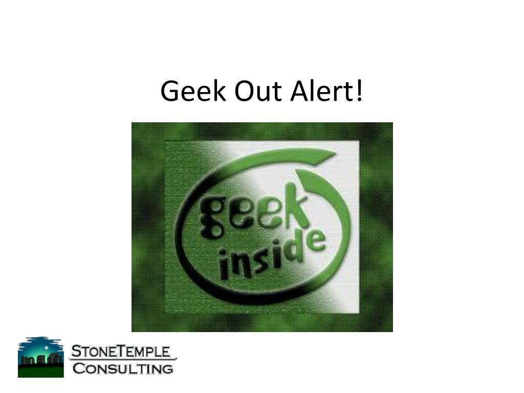 Geek Out Alert!
