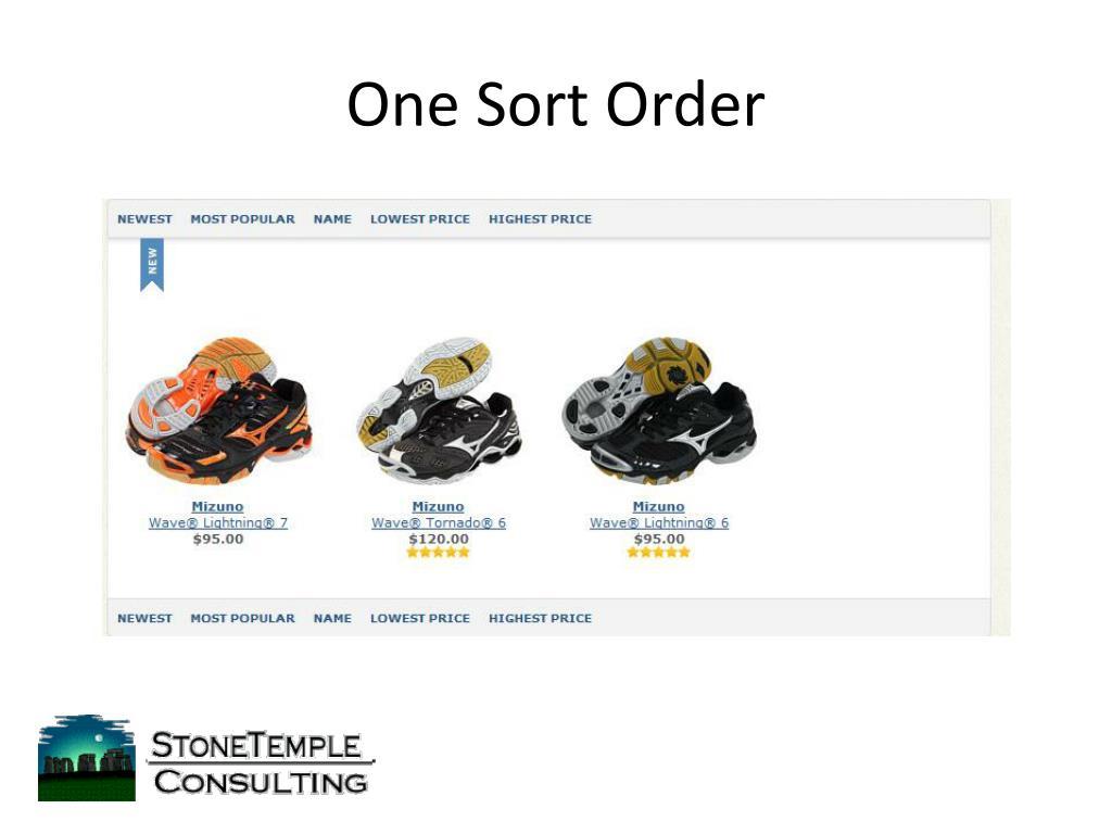 One Sort Order