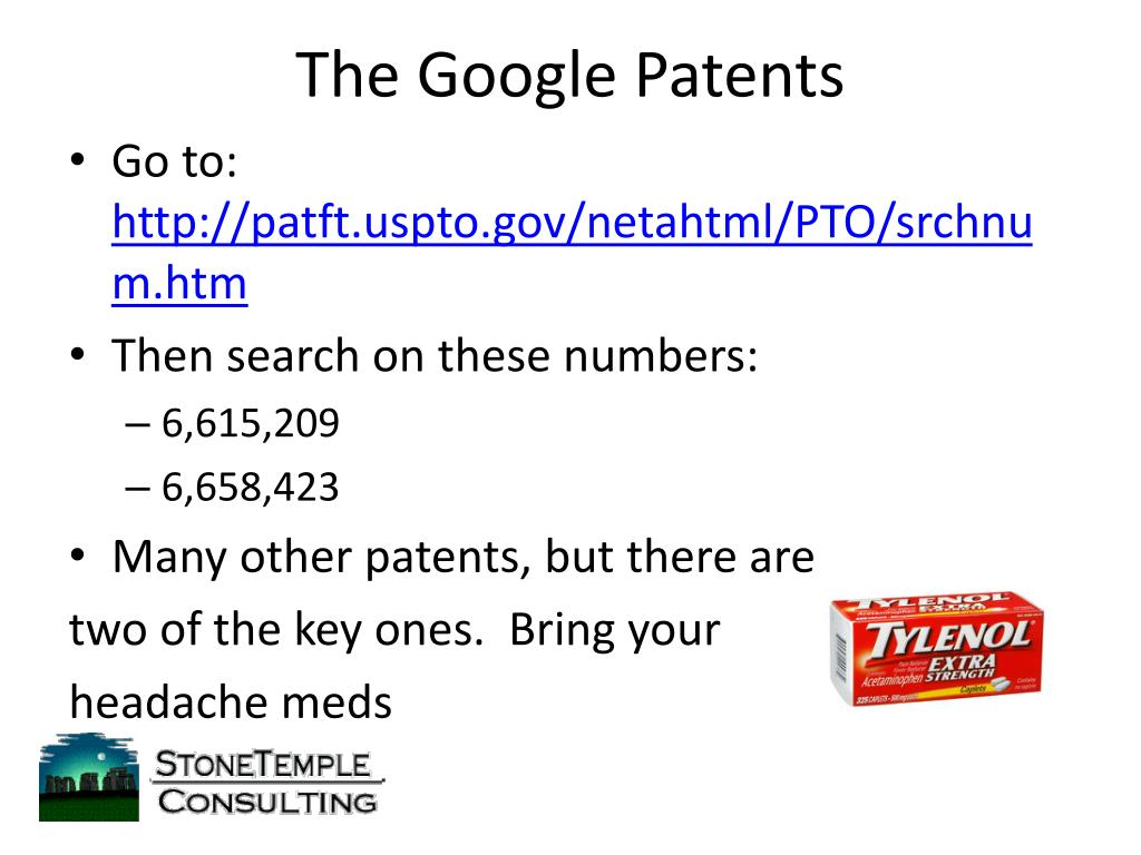 The Google Patents