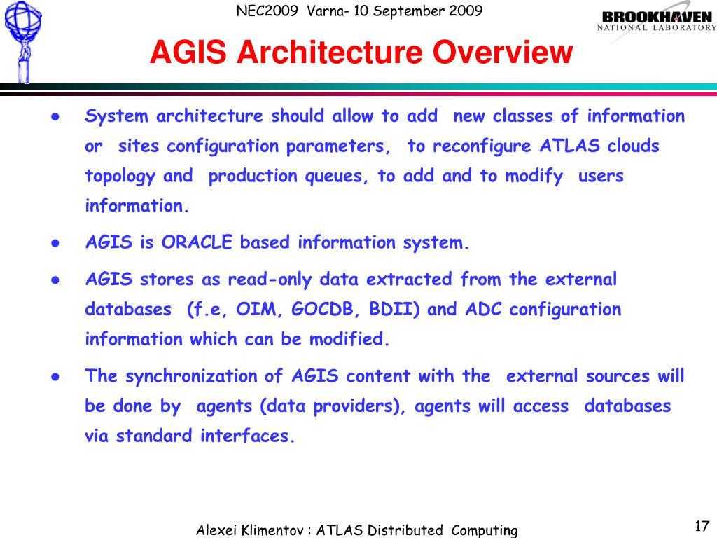 AGIS Architecture Overview