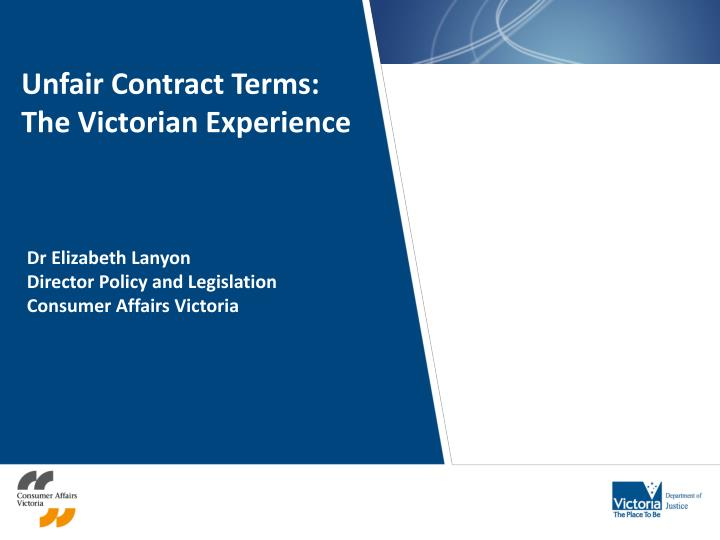 Unfair Contract Terms: