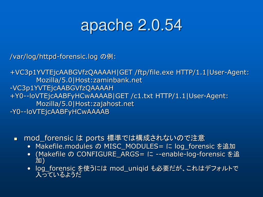 apache 2.0.54