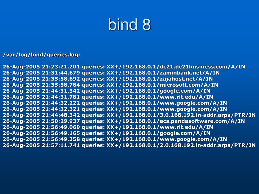 bind 8