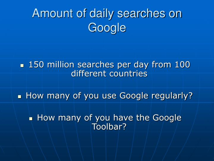 Amount of daily searches on google