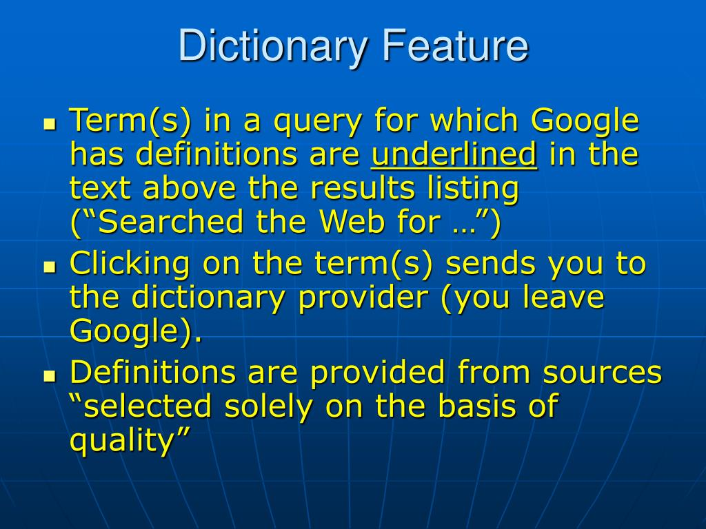 Dictionary Feature