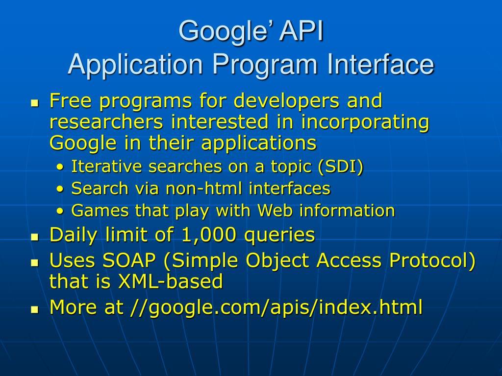 Google' API