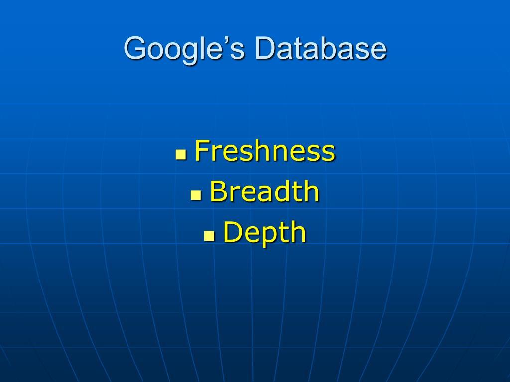 Google's Database
