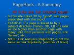 pagerank a summary