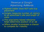 revenue at google advertising adwords73