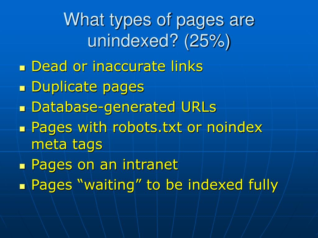 What types of pages are