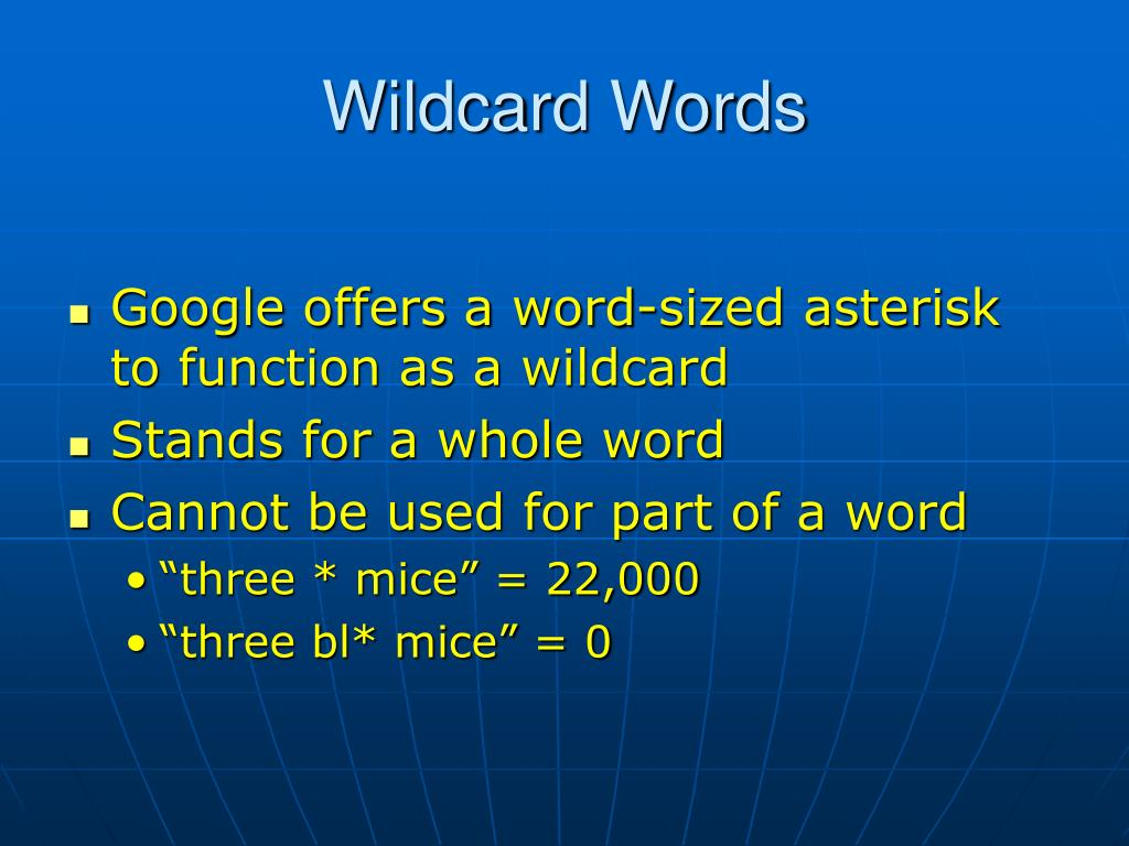 Wildcard Words