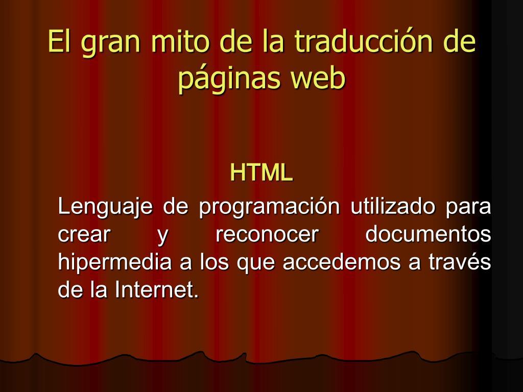 El gran mito de la traducción de páginas web