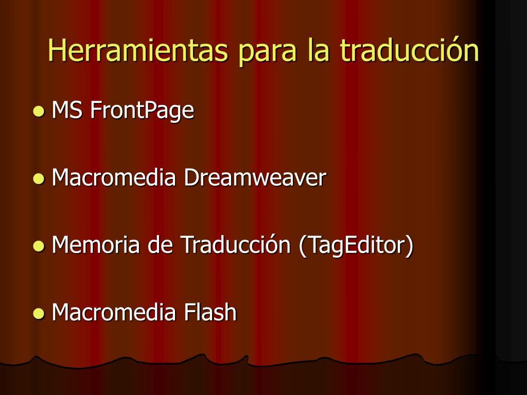 Herramientas para la traducción