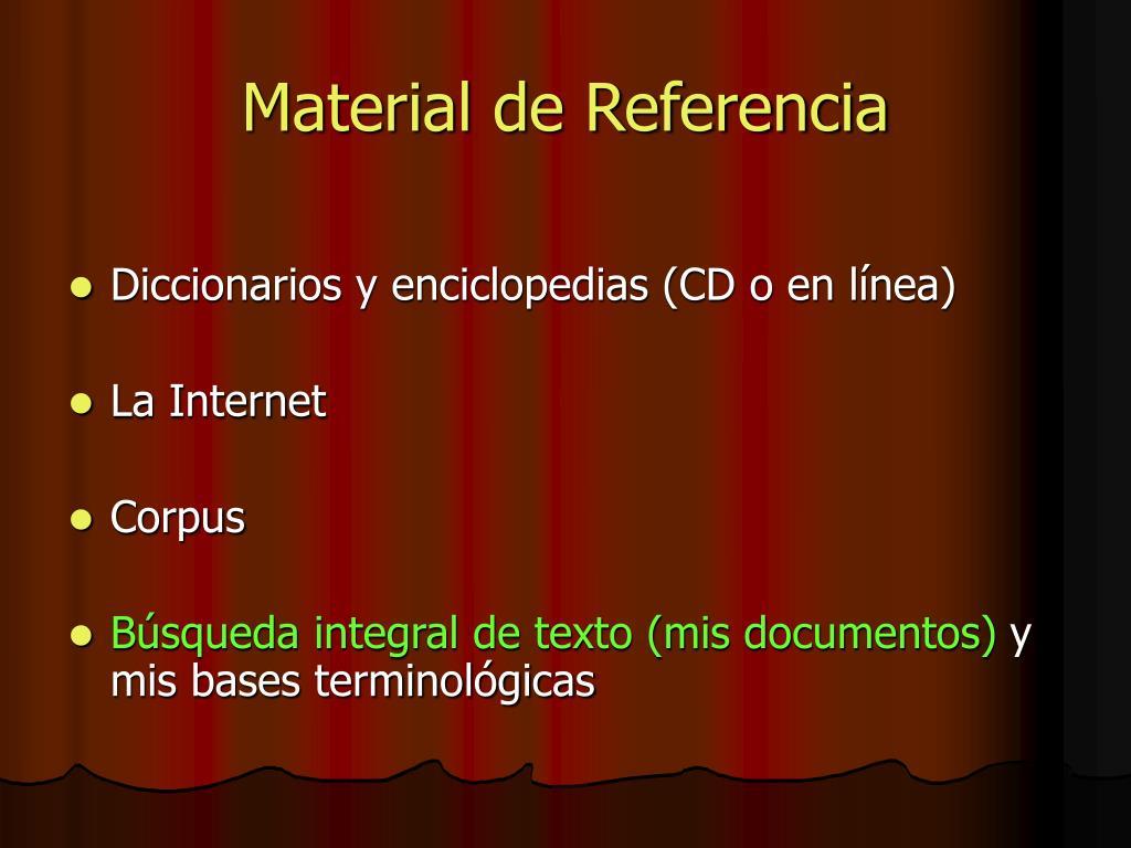 Material de Referencia