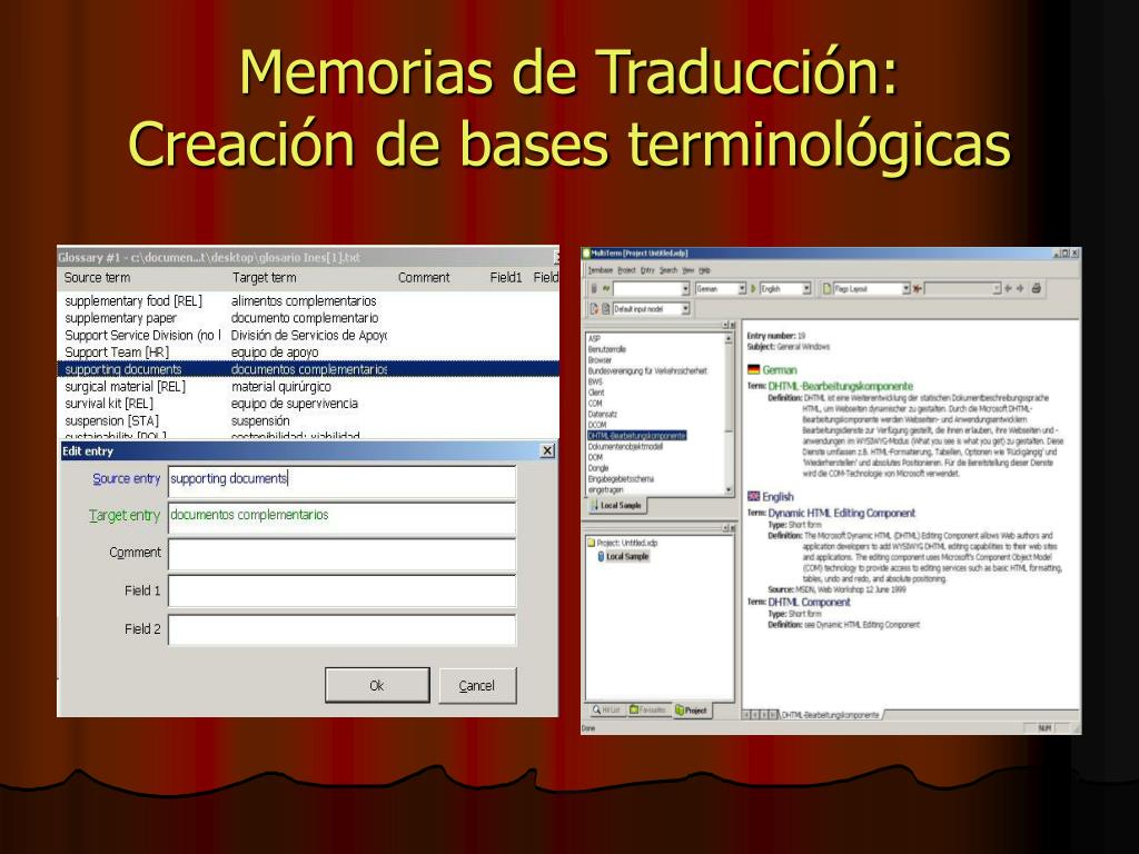 Memorias de Traducción: