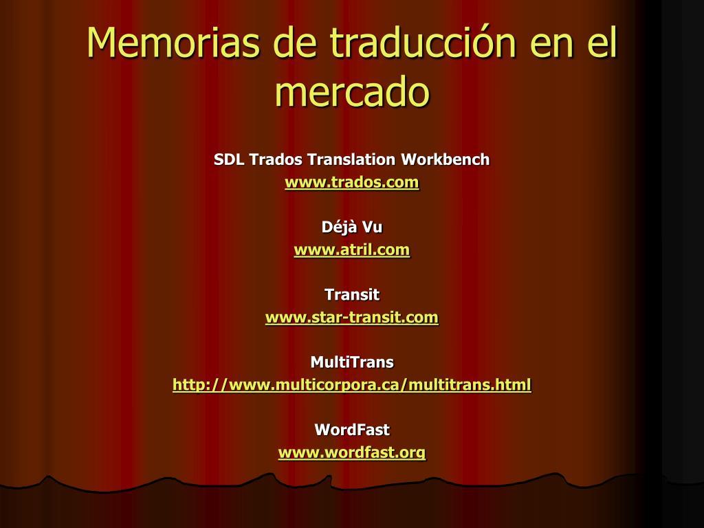 Memorias de traducción en el mercado