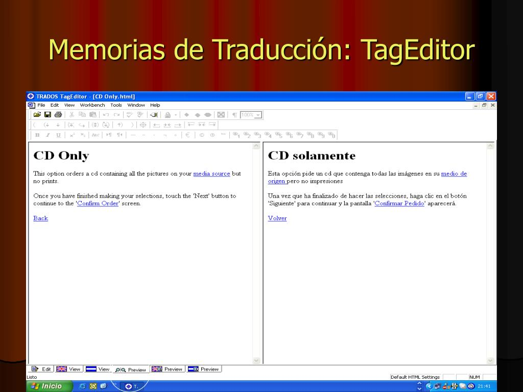 Memorias de Traducción: TagEditor