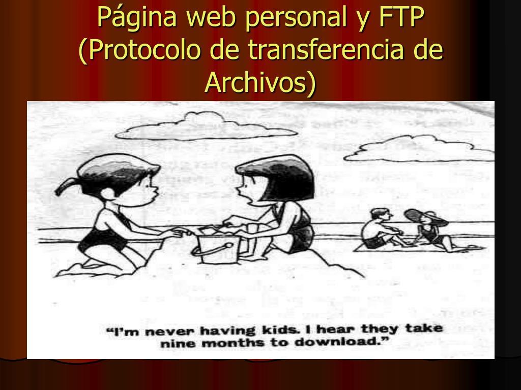 Página web personal y FTP