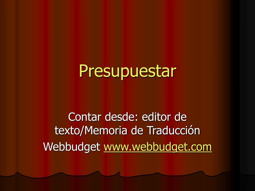 Presupuestar