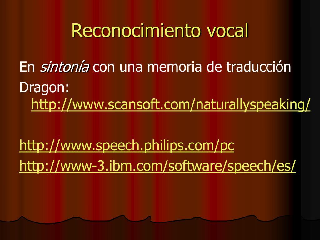 Reconocimiento vocal