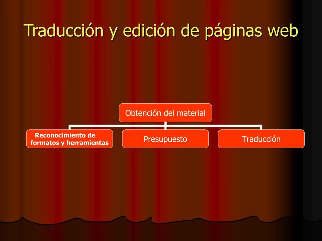 Traducción y edición de páginas web