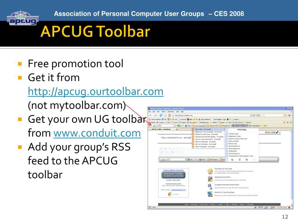APCUG Toolbar