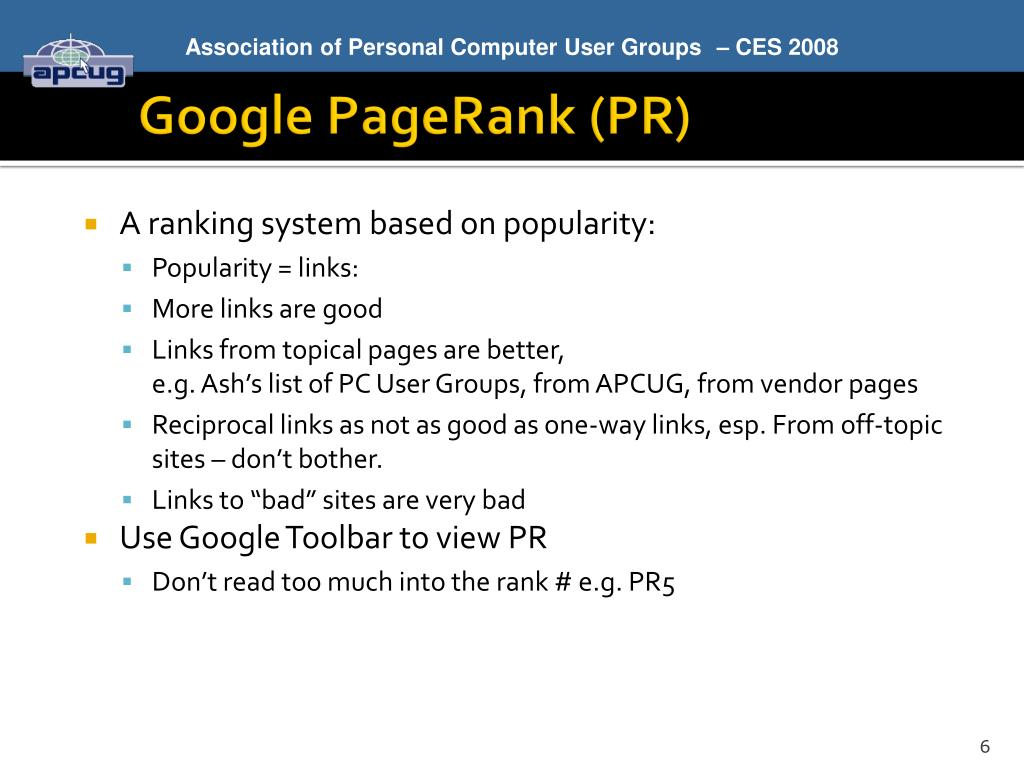 A ranking system based on popularity: