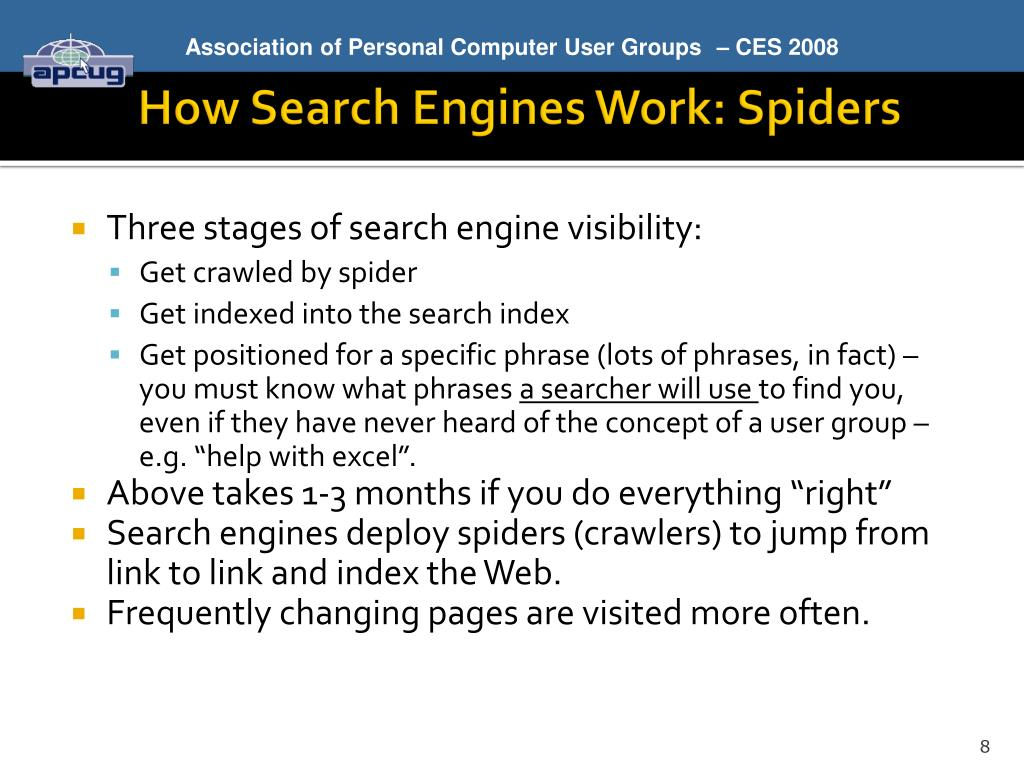 How Search Engines Work: Spiders