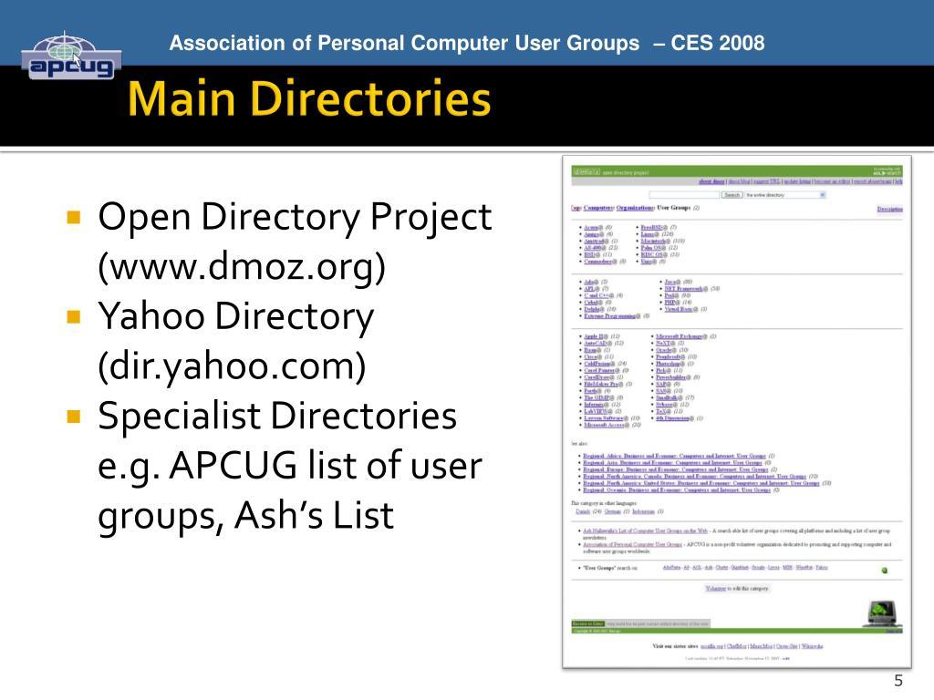 Main Directories
