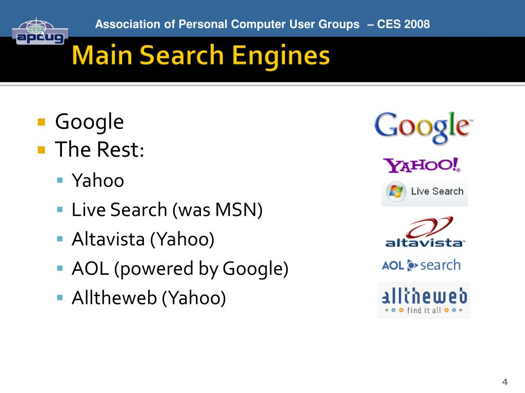 Main Search Engines