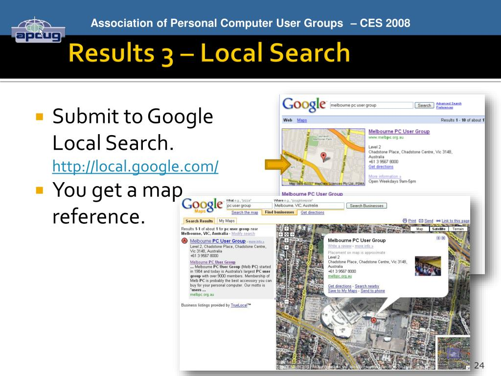 Results 3 – Local Search