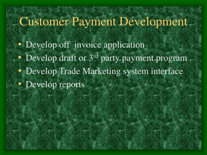 Customer Payment Development