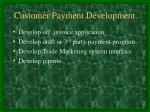 customer payment development