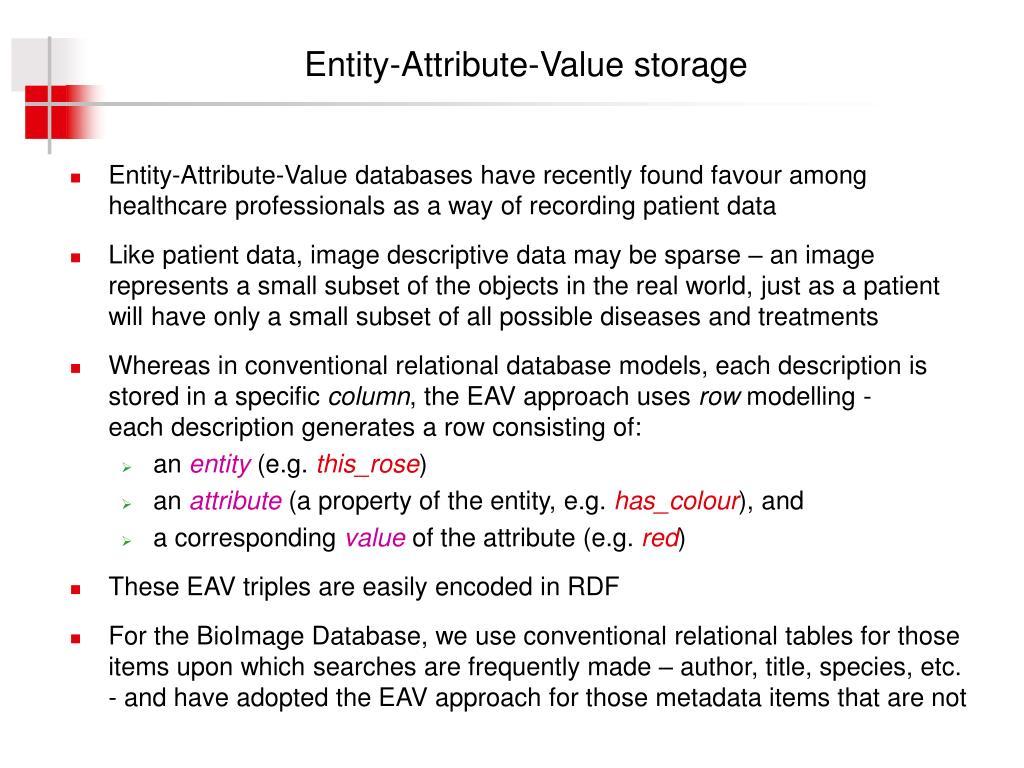 Entity-Attribute-Value storage