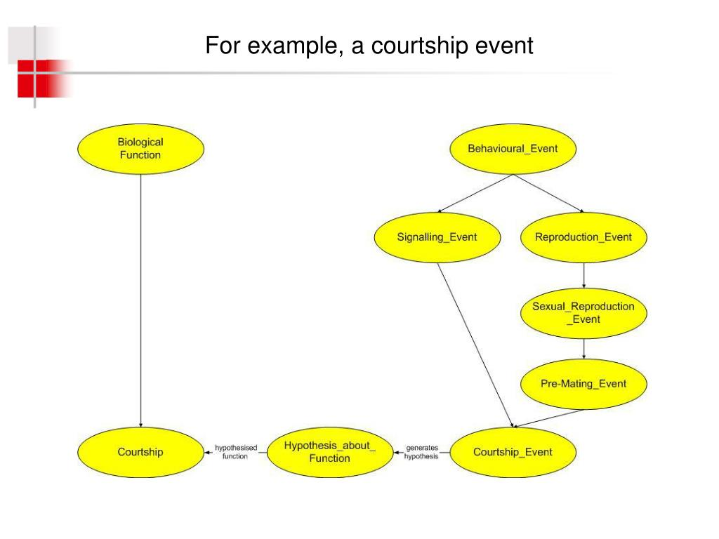 For example, a courtship event