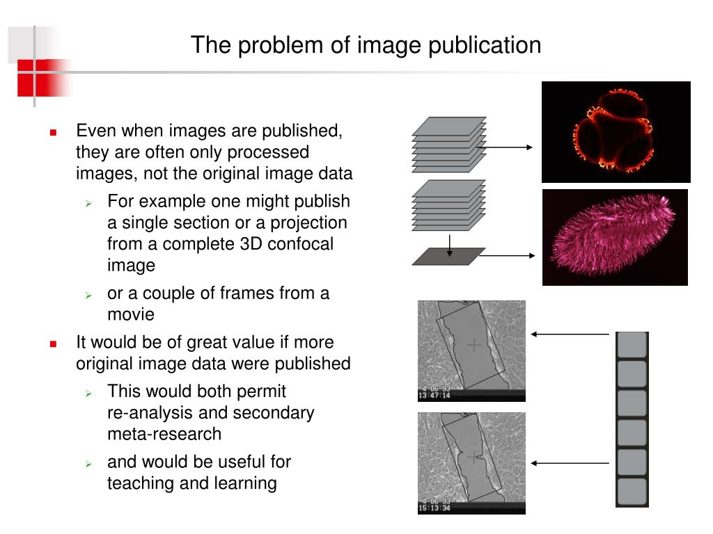 The problem of image publication