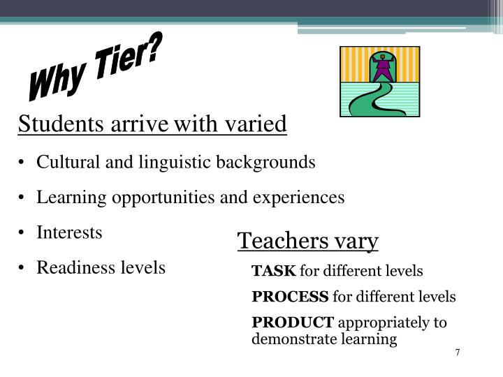 Teachers vary