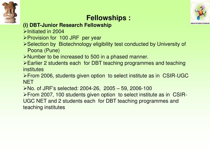 Fellowships :