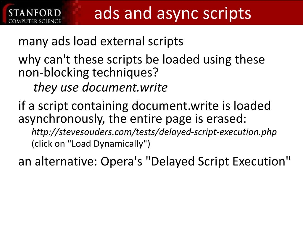 ads and async scripts
