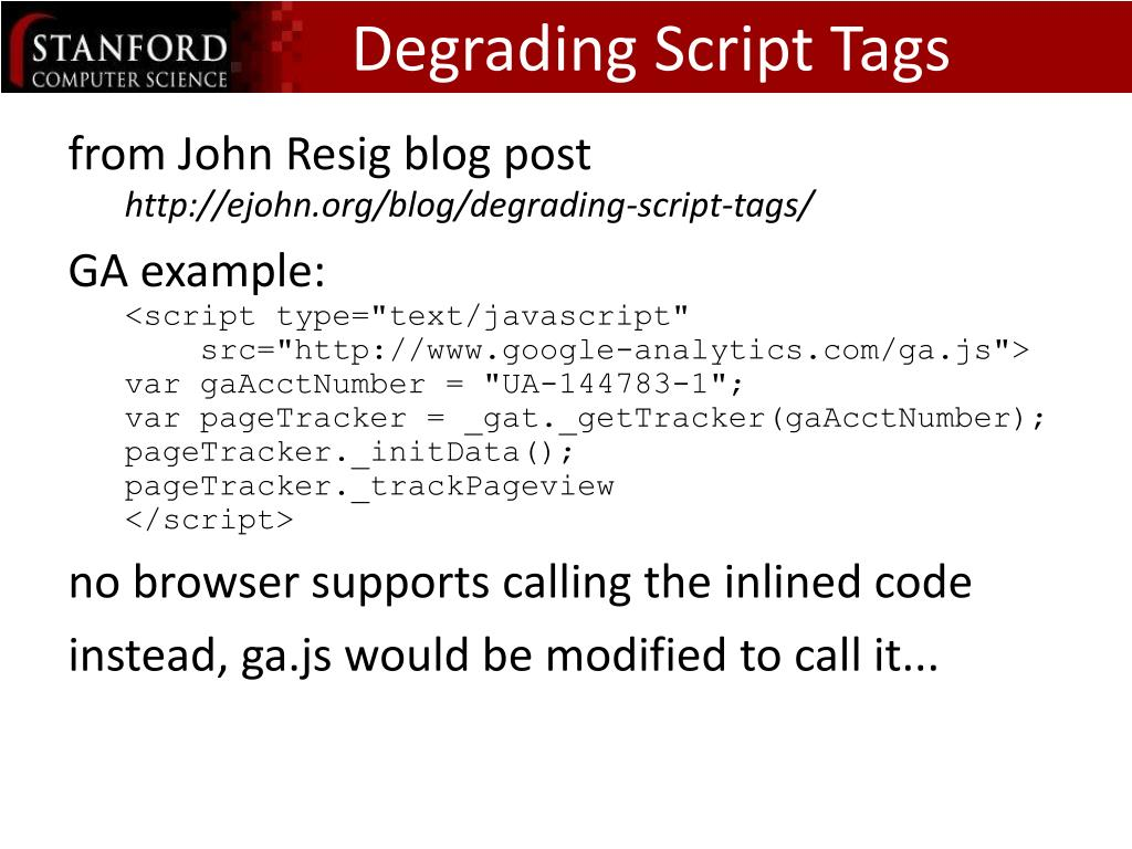 Degrading Script Tags