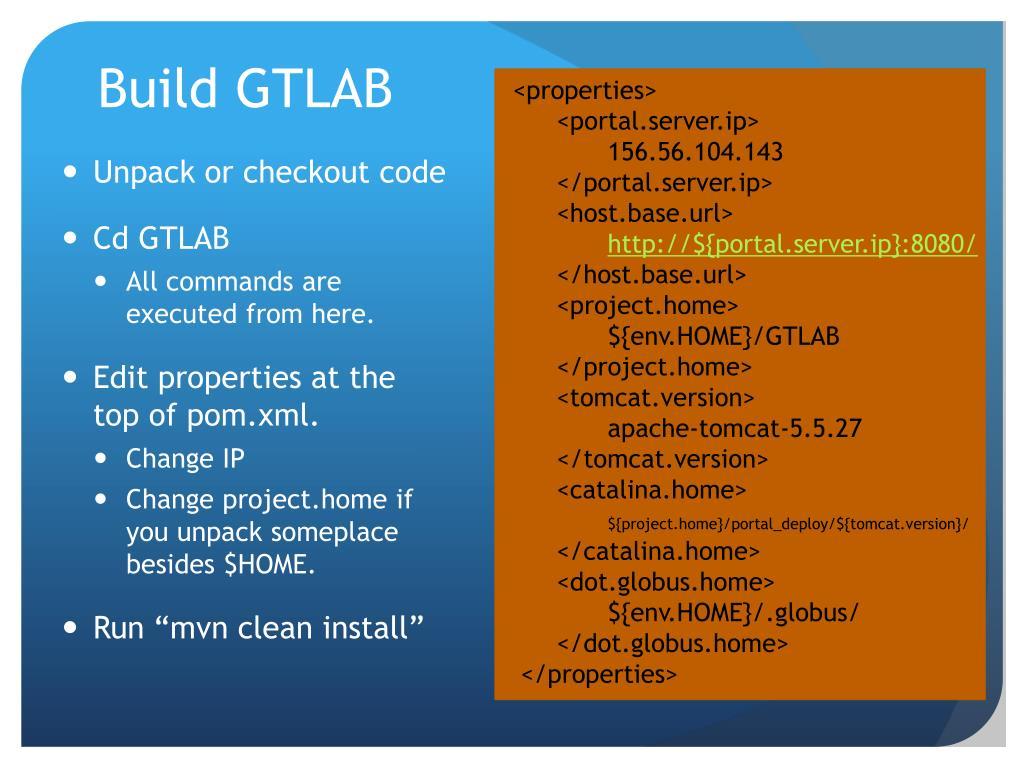 Build GTLAB