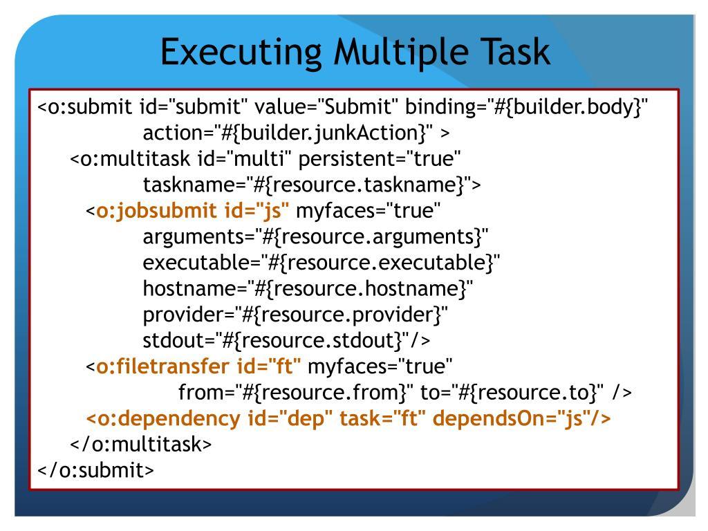 Executing Multiple Task