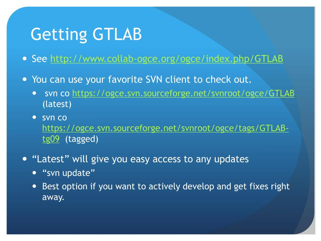 Getting GTLAB