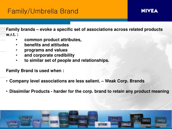 Family/Umbrella Brand