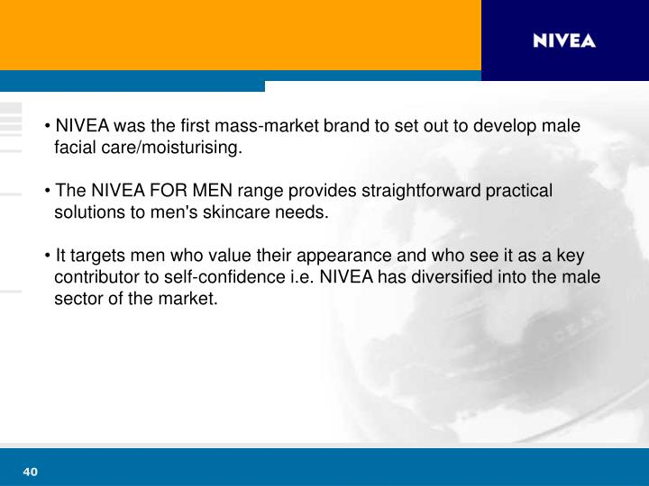 NIVEA was the first mass-market brand to set out to develop male
